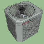 Heat pump outdoor condenser unit