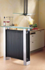 Radiator integrated into table